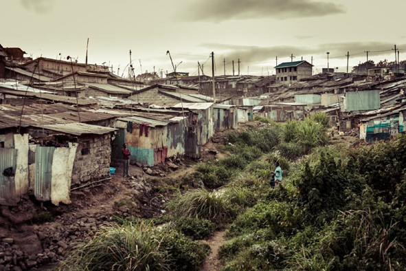 One of the two watercourses that cross Mathare