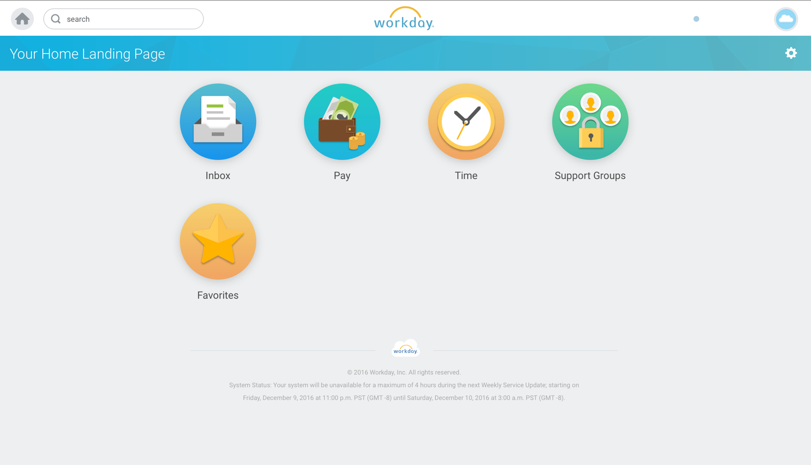 1 Workday S Landing Page