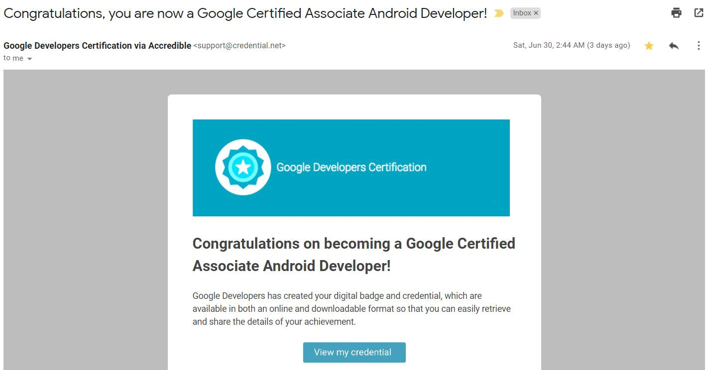 Conquering The Fears Associate Android Developer Google Certification
