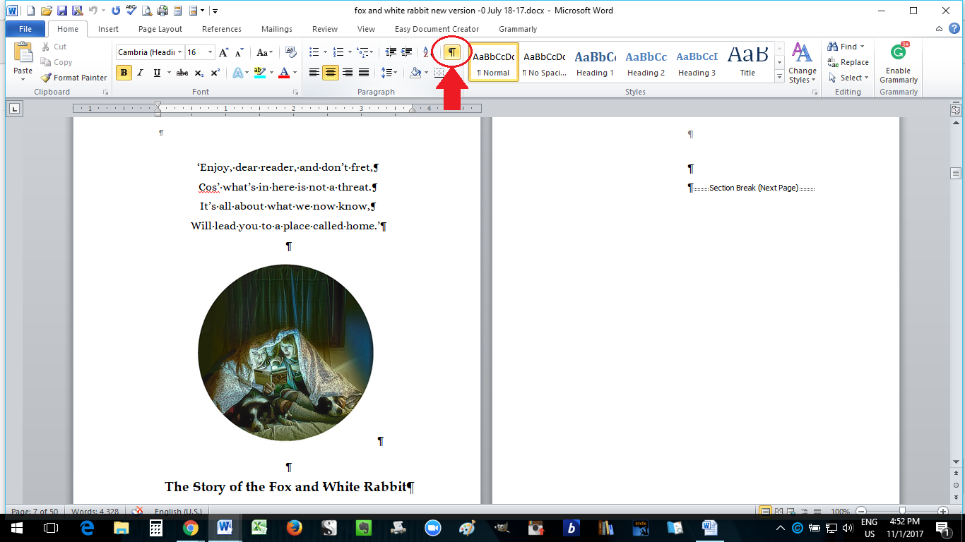 paperback formatting in ms word how to self publish a book part 10
