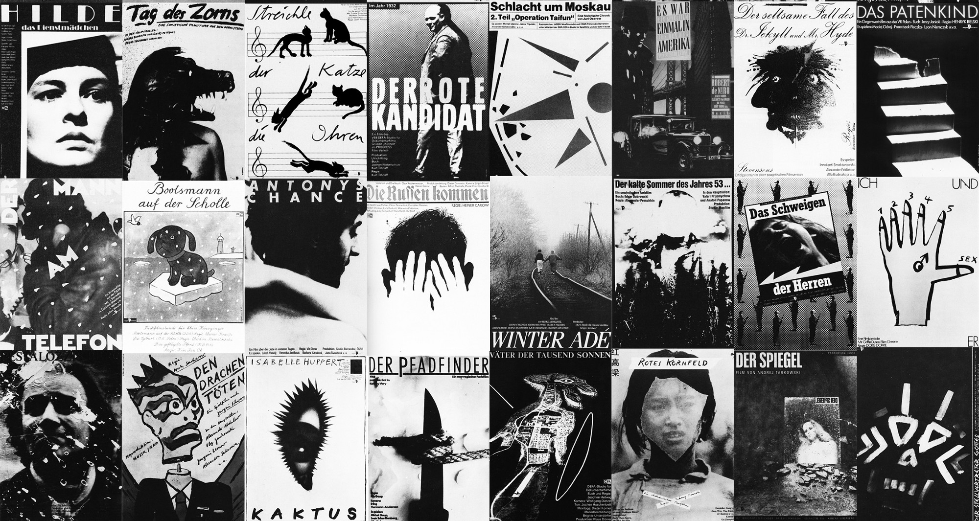 Collage Of Film Posters Made For Progress By Various Graphic Designers And Artists In The GDR Between 1977 1989