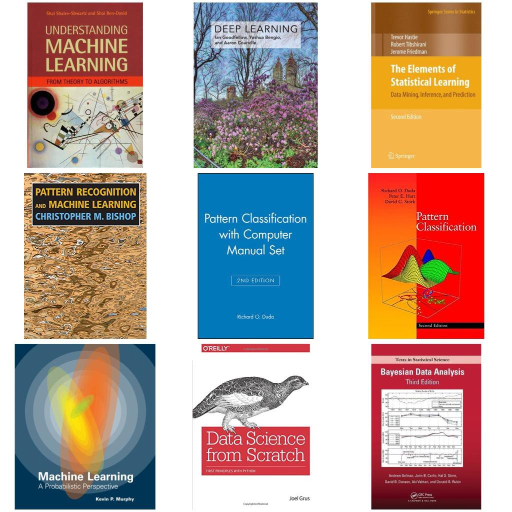 The best Machine & Deep Learning books