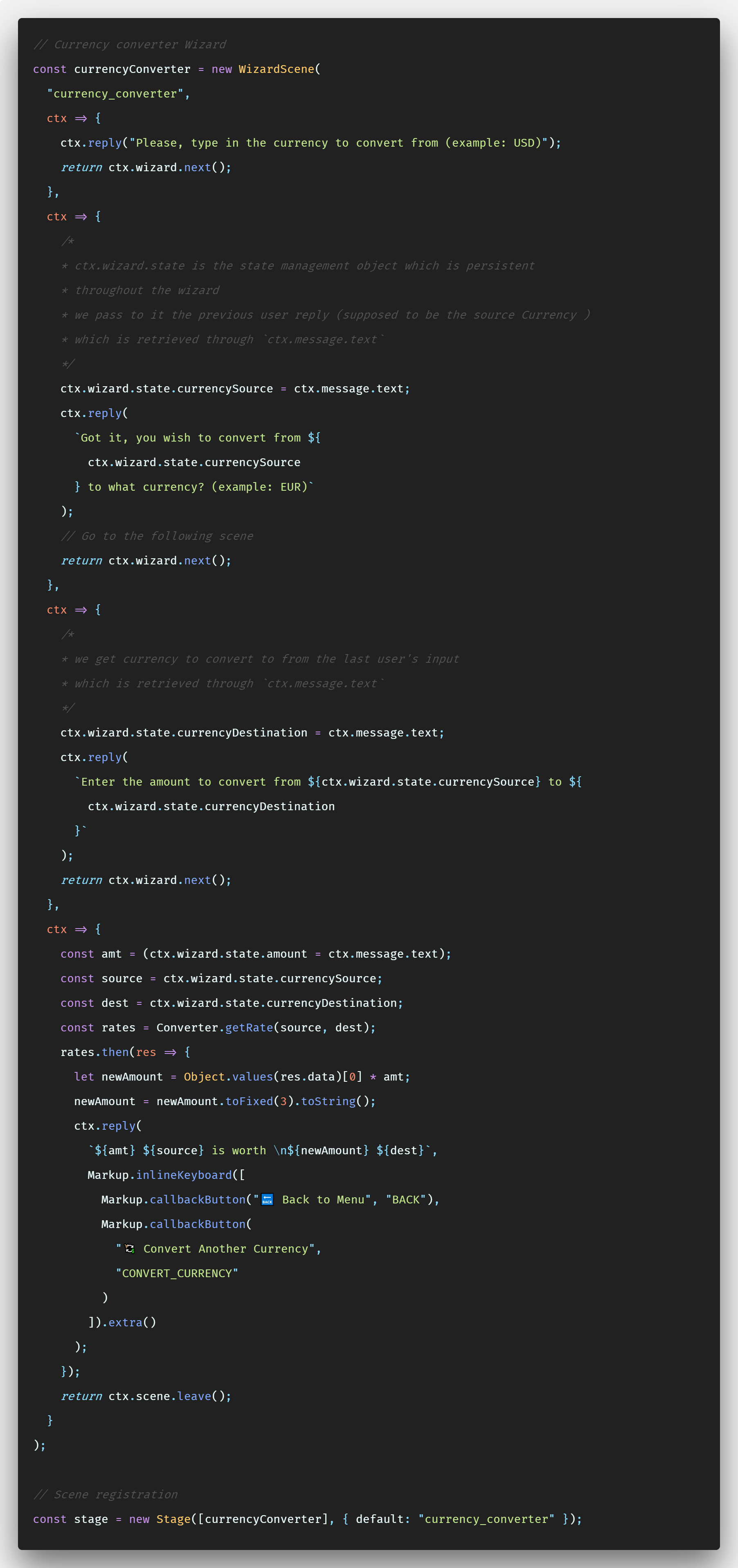 Sorry I Just Attached The World S Longest Code Snippet P Let Go Through It So We Could Get A Better Understanding Of Wizard Api