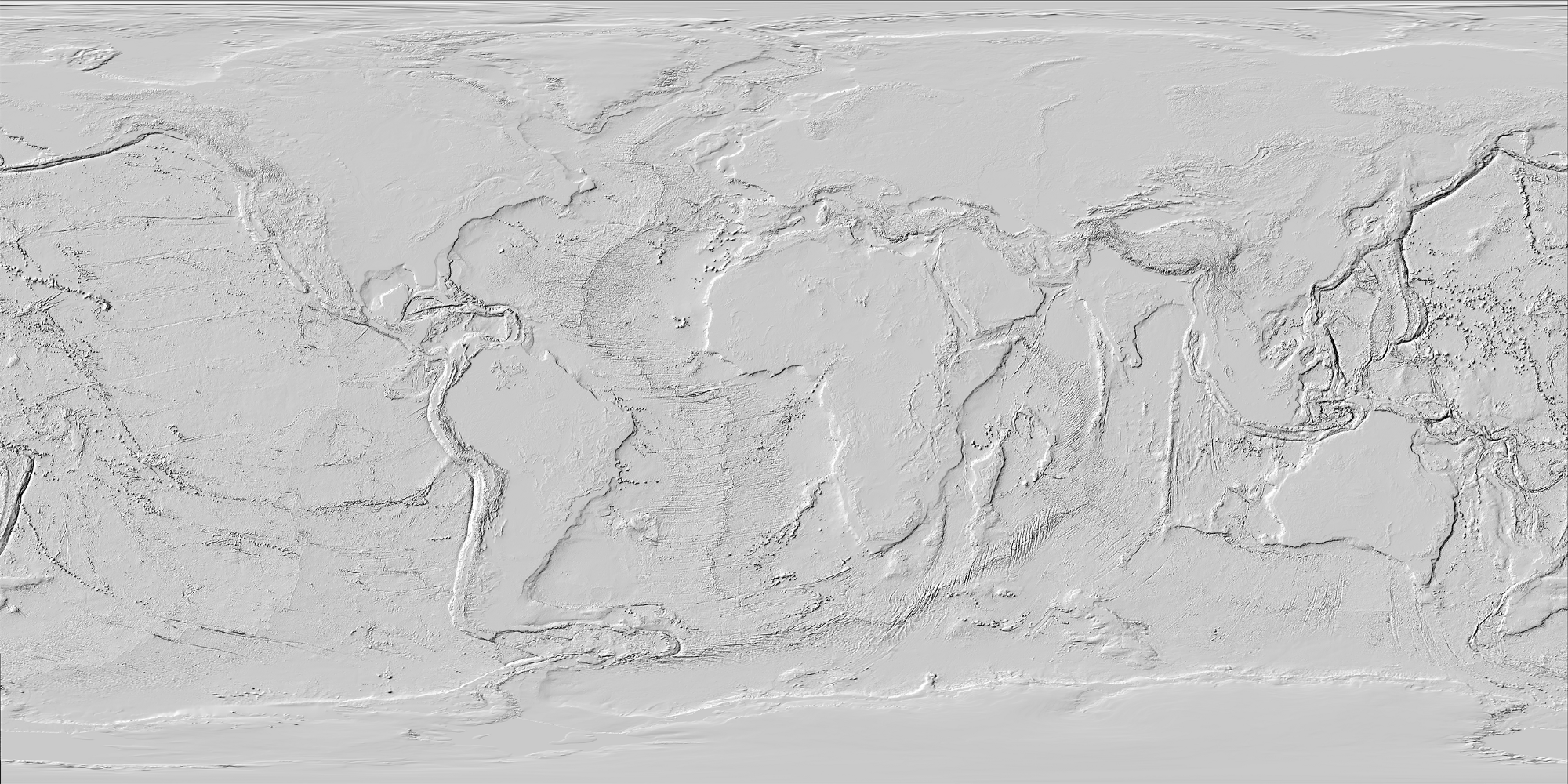 Sea Floor Elevation Data : Creating a giant d bathymetric map out of data for