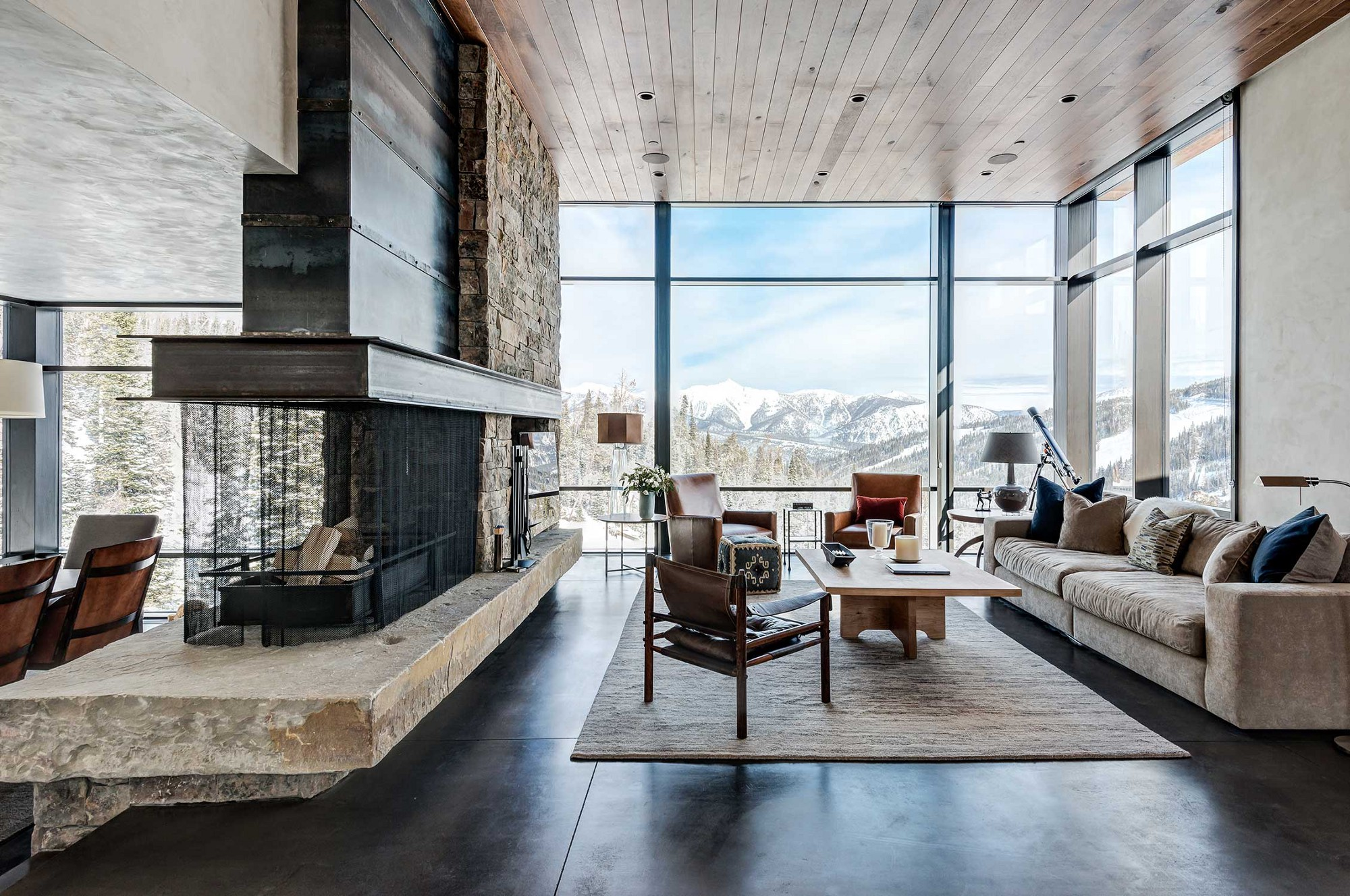 Residential Design Inspiration: Modern Central Fireplaces