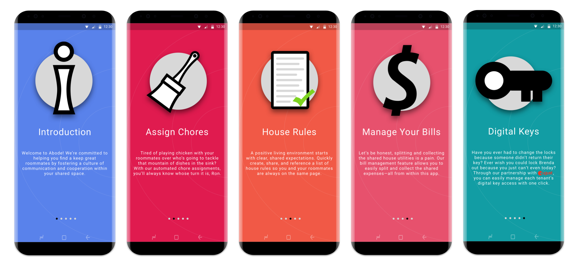 case study abode a native application for roommate management