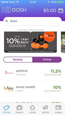 Online offers (Dosh)