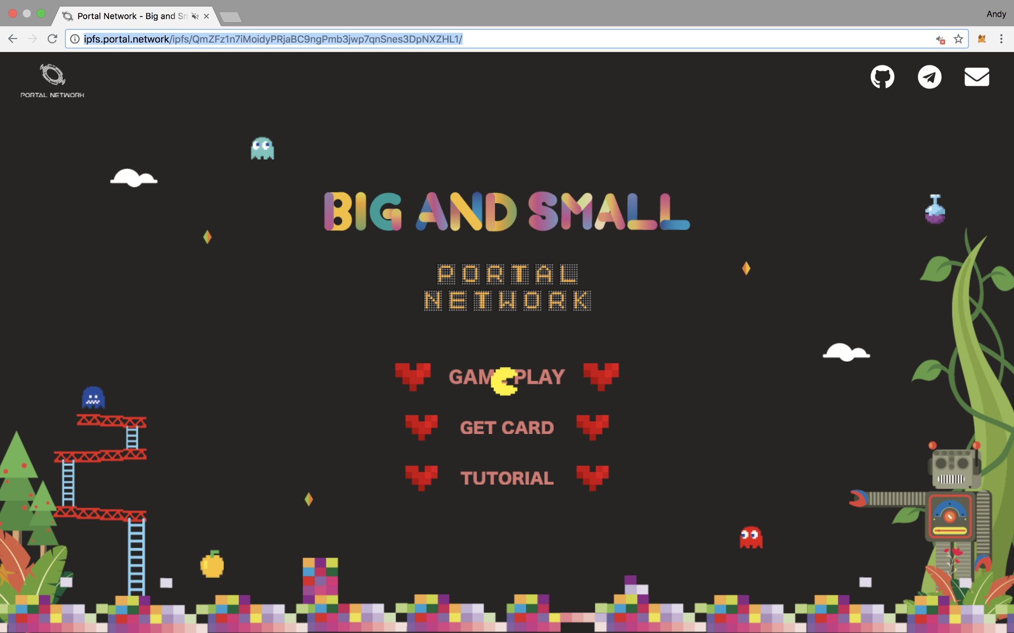 tutorial big and small card game portal network