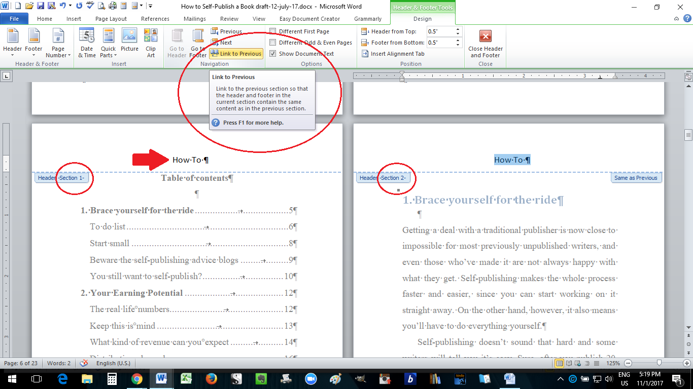 Paperback Formatting In Ms Word How To Self Publish A
