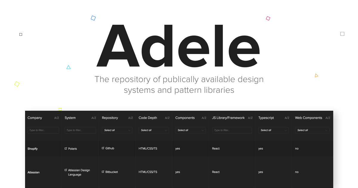 Introducing Adele — The Largest Open Source Repository of Design Systems
