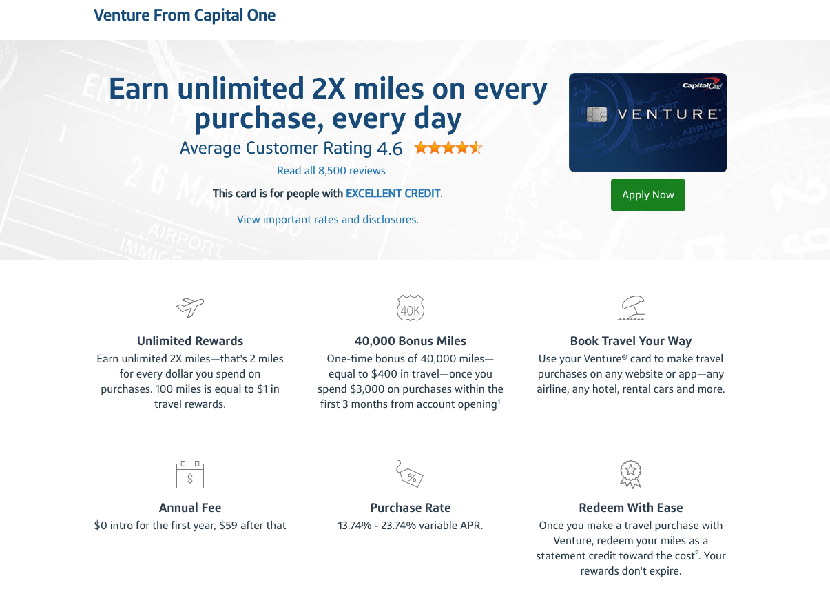 Capital one venture points