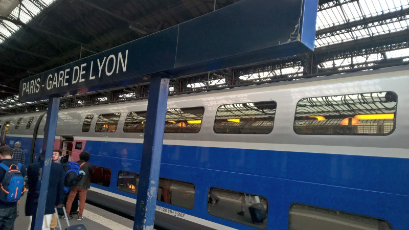 Paris to Barcelona train
