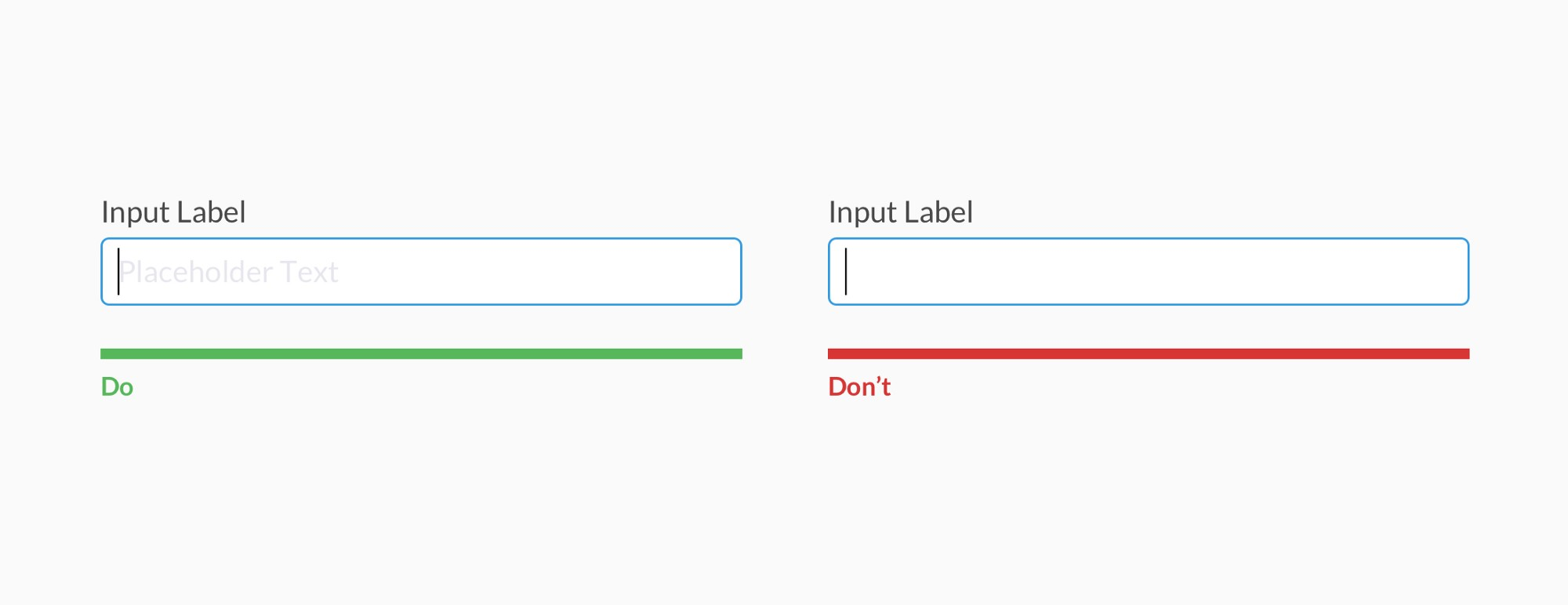 Alternatives to Placeholder Text