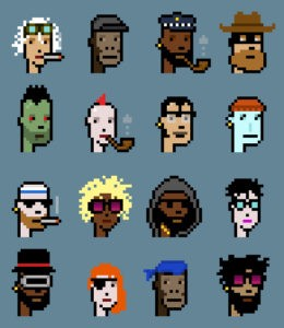 A few of the one-of-a-kind CryptoPunks gang. Source: CryptoPunks.