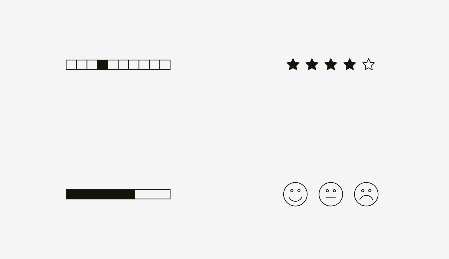 Designing Better Design Documentation Muzli Inspiration Star Diagrams Are Useful For Basic Brainstorming About A Topic Or Bar Charts Ratings 10 Point Scales Smileys The Most Compact And Well Recognizable Ways To Show Relative Non Numeric Information
