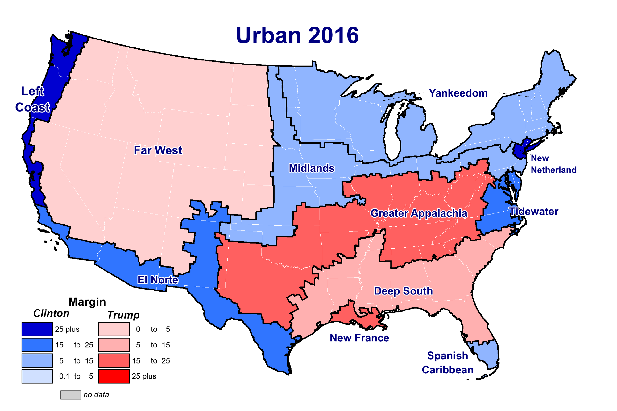 no the divide in american politics is not rural vs urban and here s the data to prove it