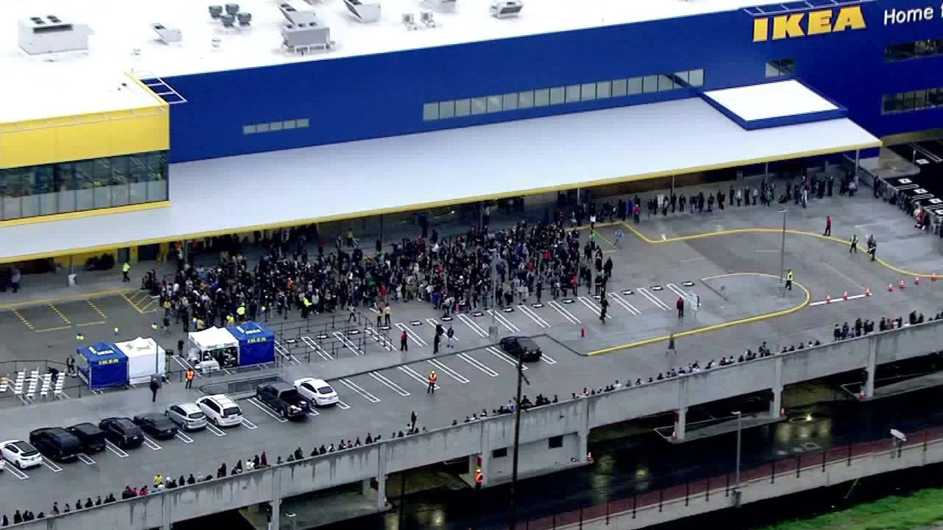 Crowds Gather For The Grand Opening Of New Ikea In Burbank Calif