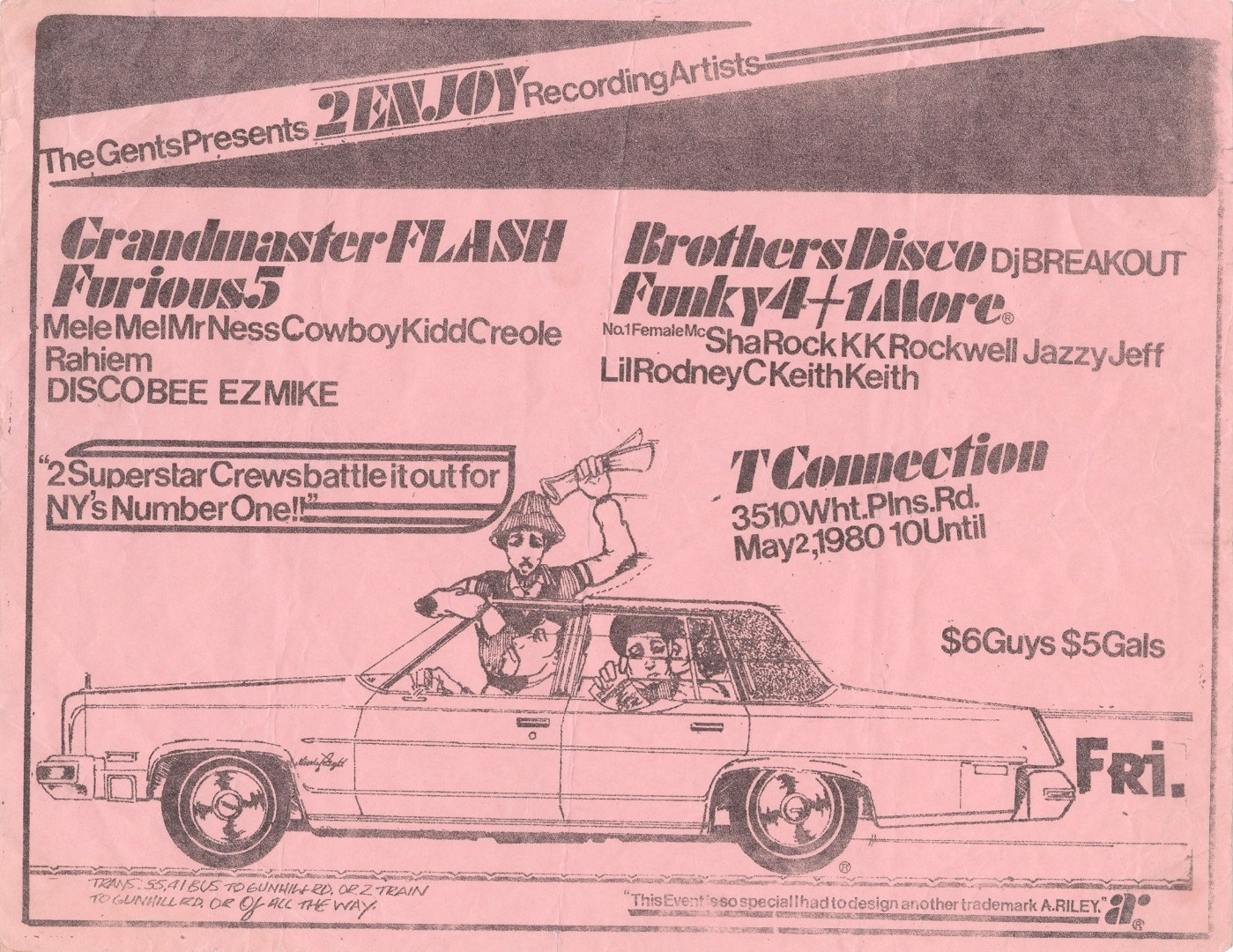 these handmade flyers from the earliest days of hip hop advertise