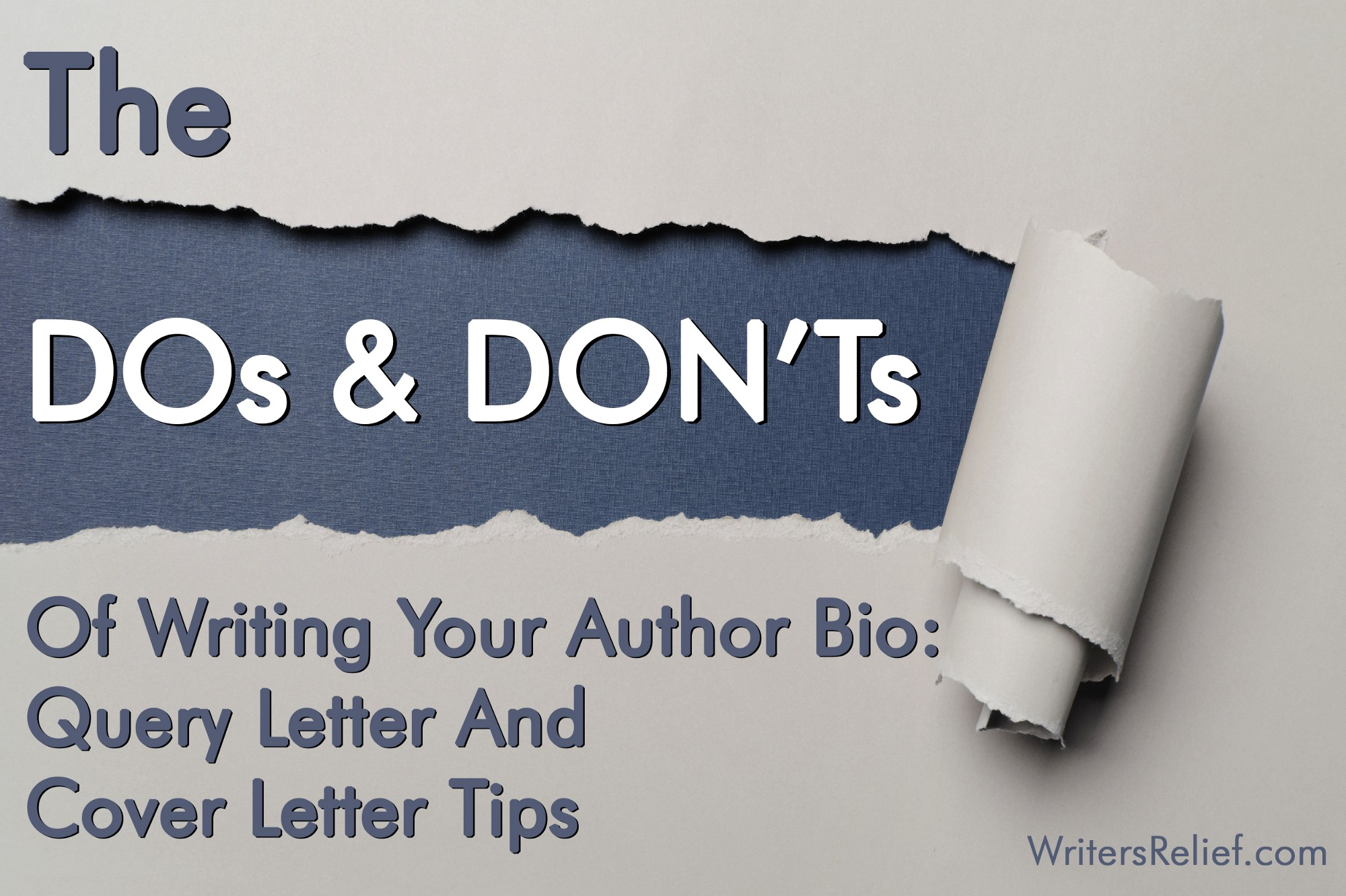 the dos and donts of writing your author bio query letter and cover letter tips - Author Cover Letter