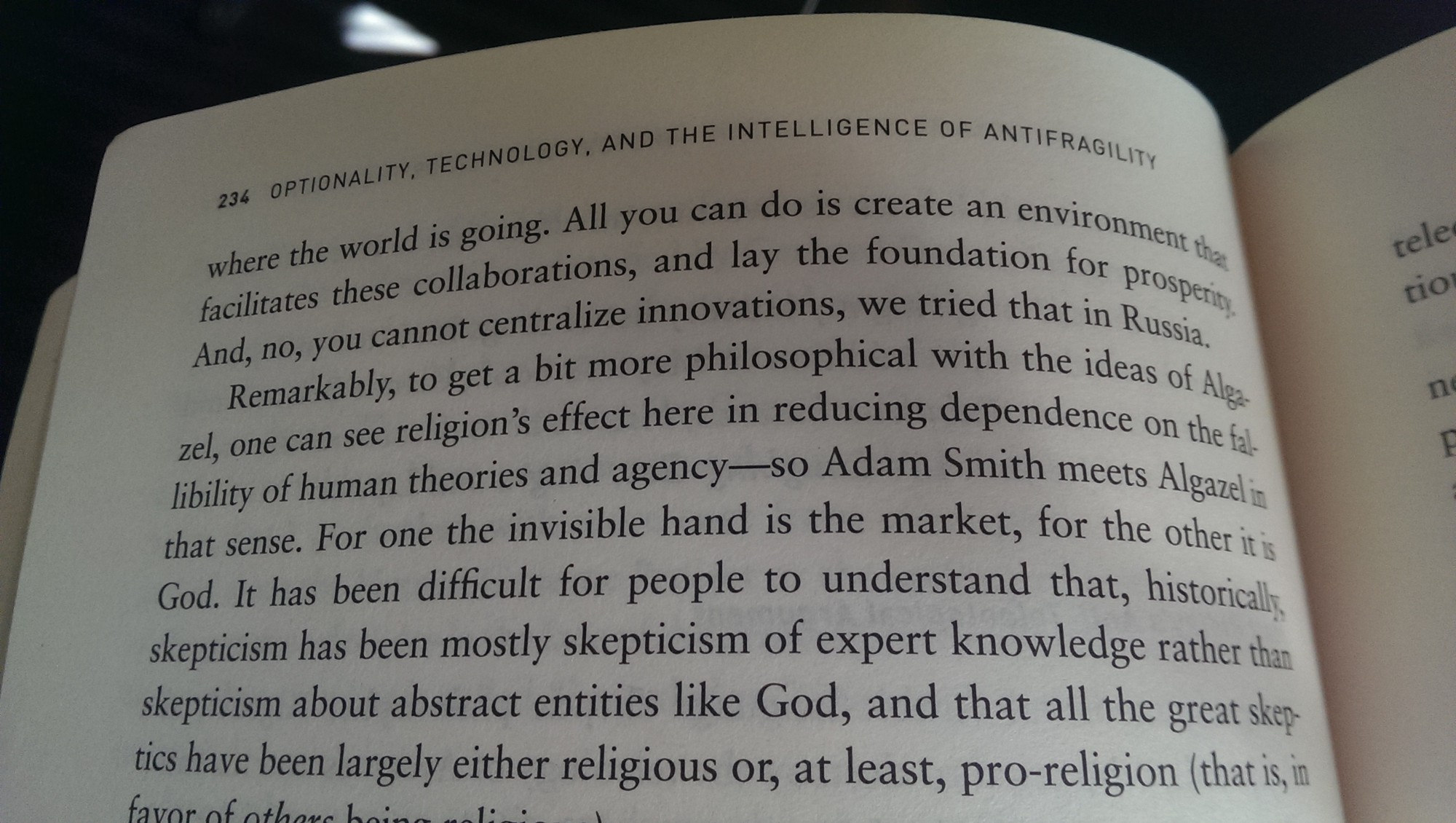 An experiment with the different world religions a clear and empty -  From Antifragile P 233 234