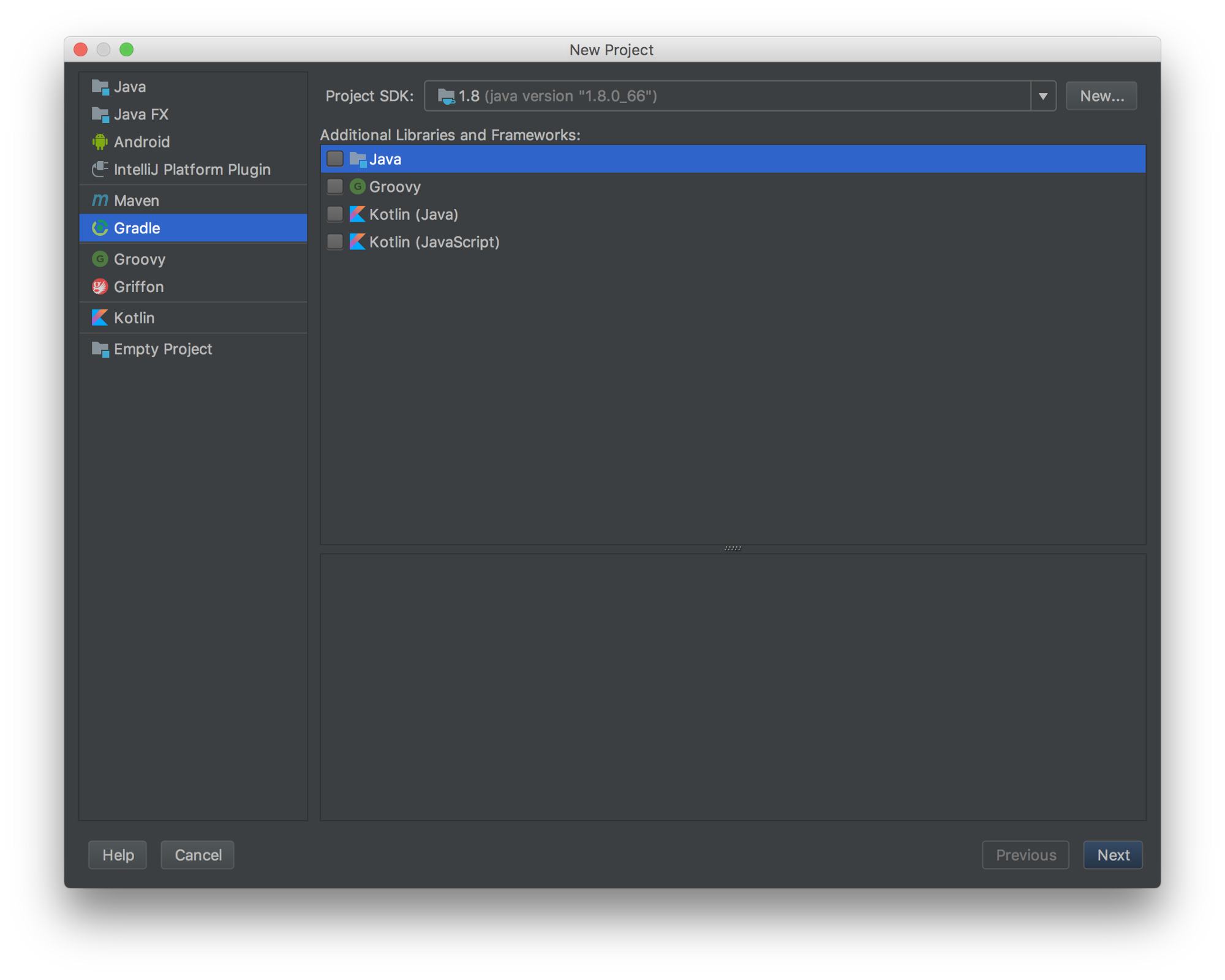 New project with IntelliJ IDEA