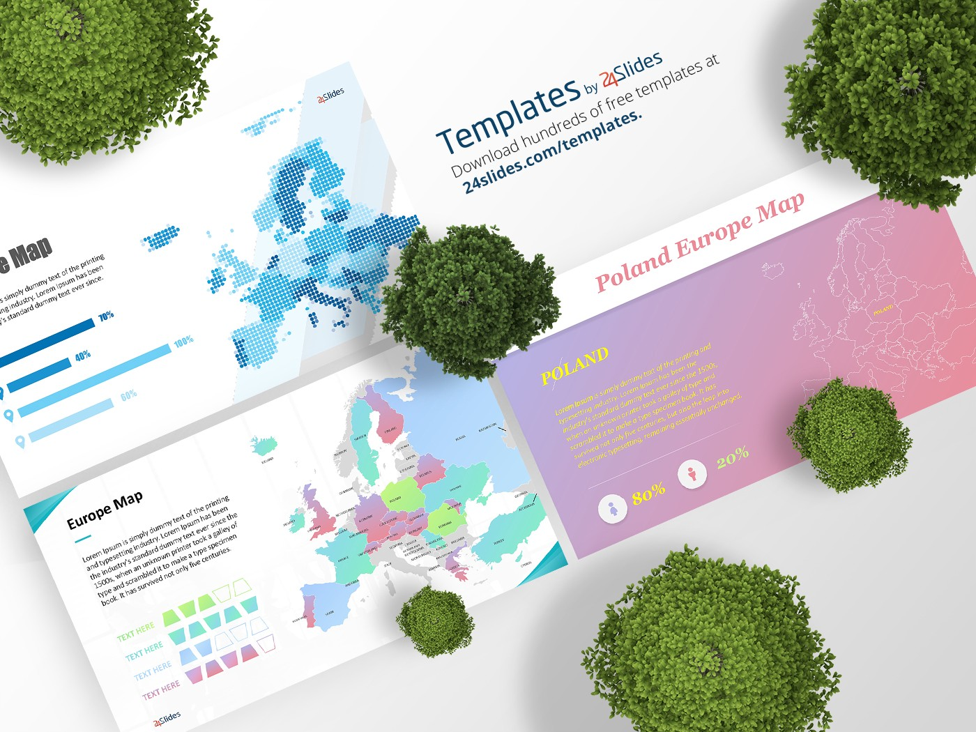 maps europe presentation template free download free