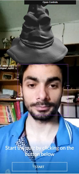 Example of face recognition in web app