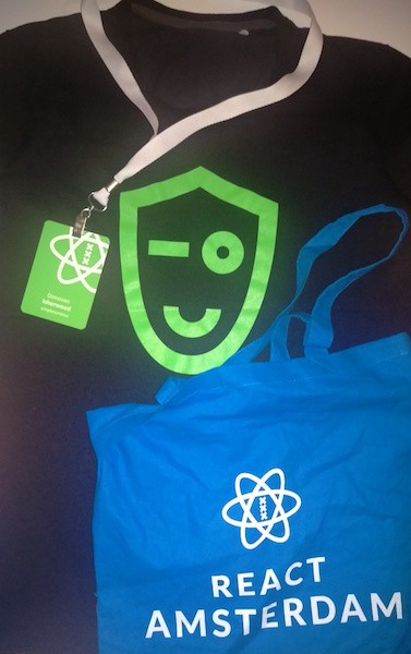 Swag from React Amsterdam 2017