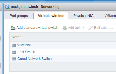 Additional interfaces for the firewall should be added here.