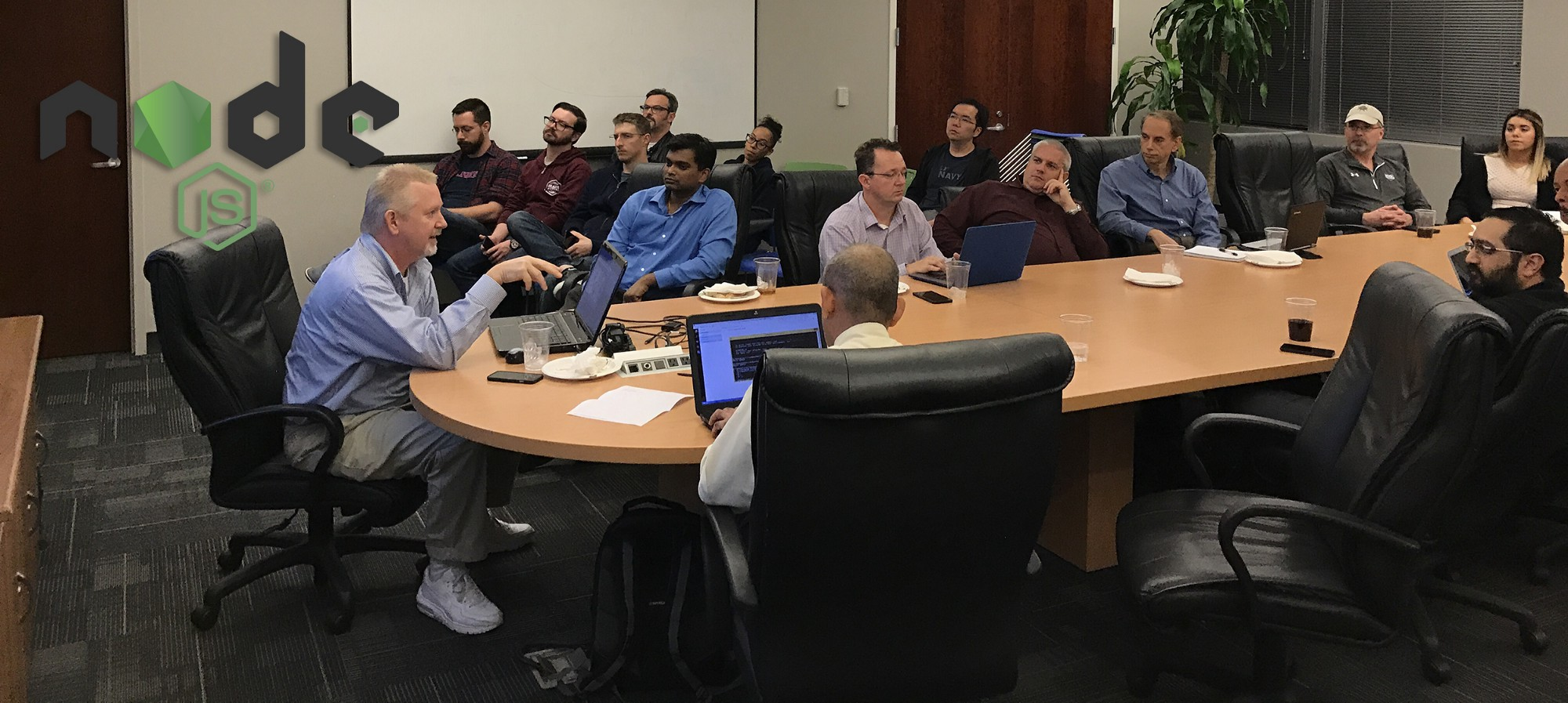 Picture of JaxNode meeting from Feb. 2017