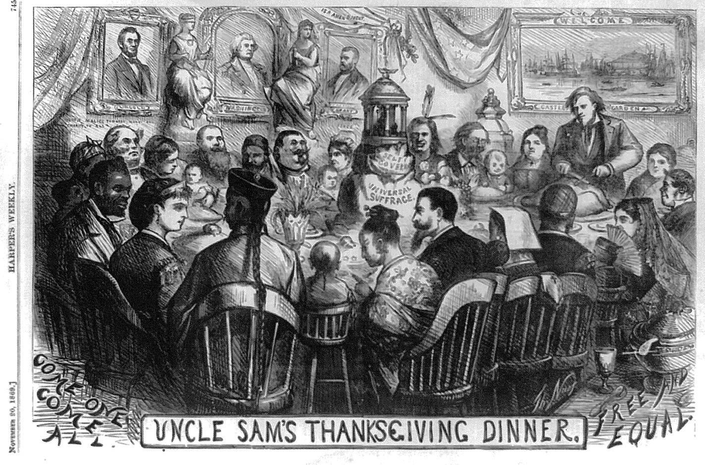 Even The Most Progressive Illustrations Of Early Thanksgivings Were