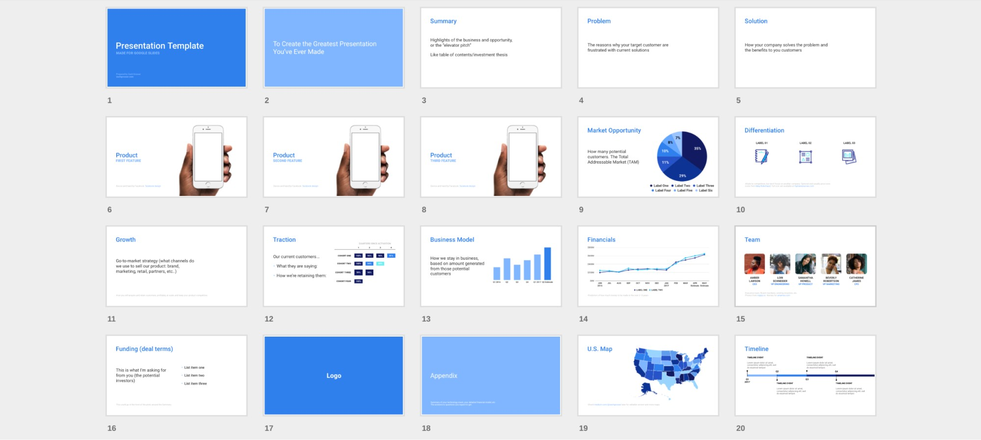 investor pitch template for google slides