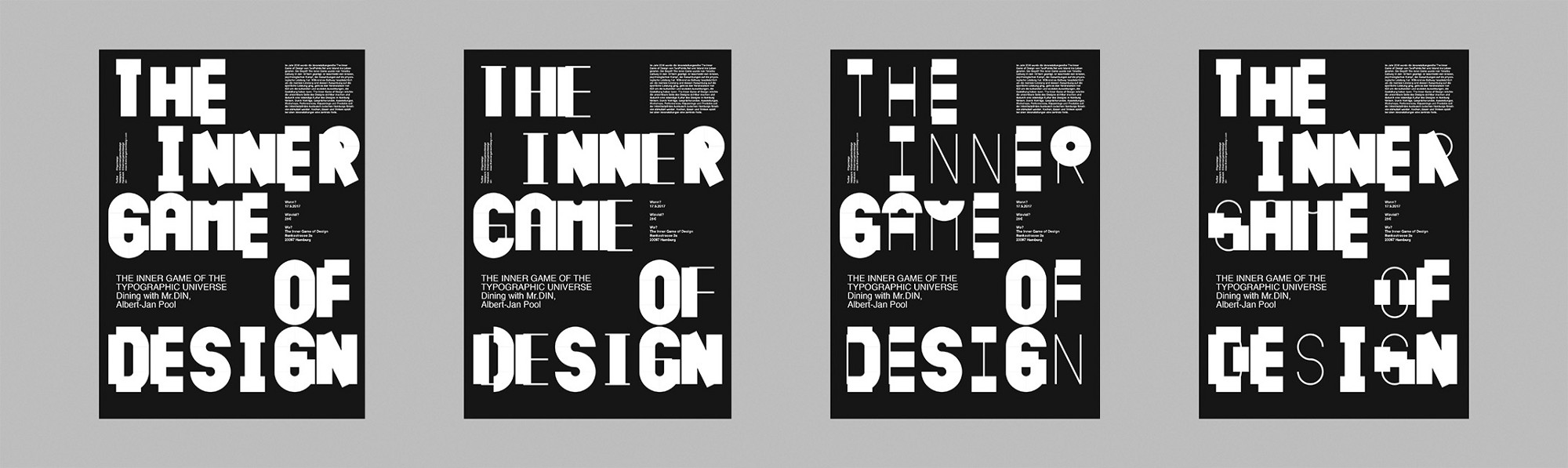 Poster Series For The Inner Game Of Design Event Featuring Albert Jan Pool