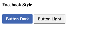 facebook dark button