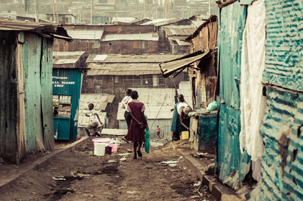 A street in Mathare