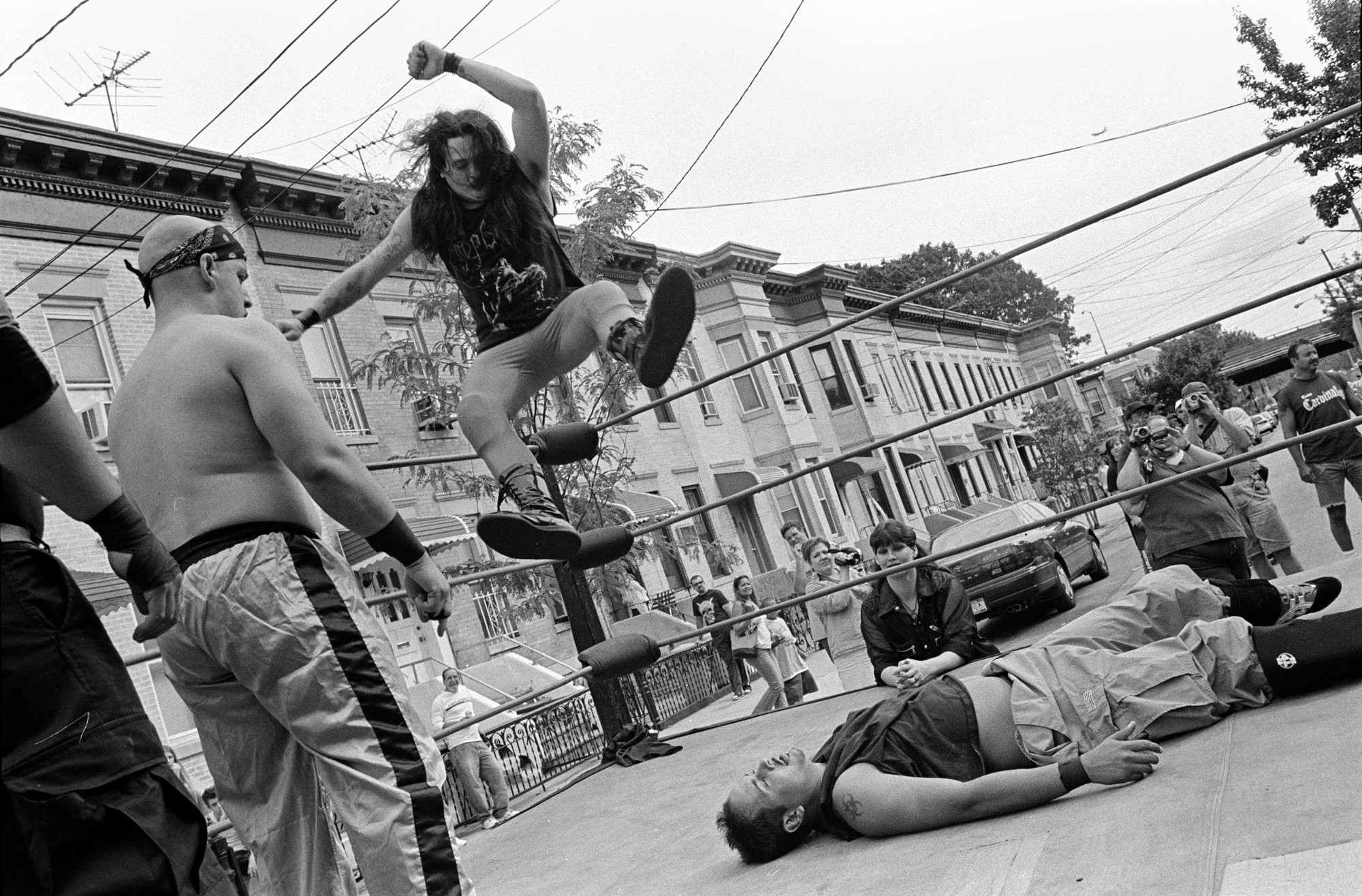 photos amateur wrestling in brooklyn before craft cocktails