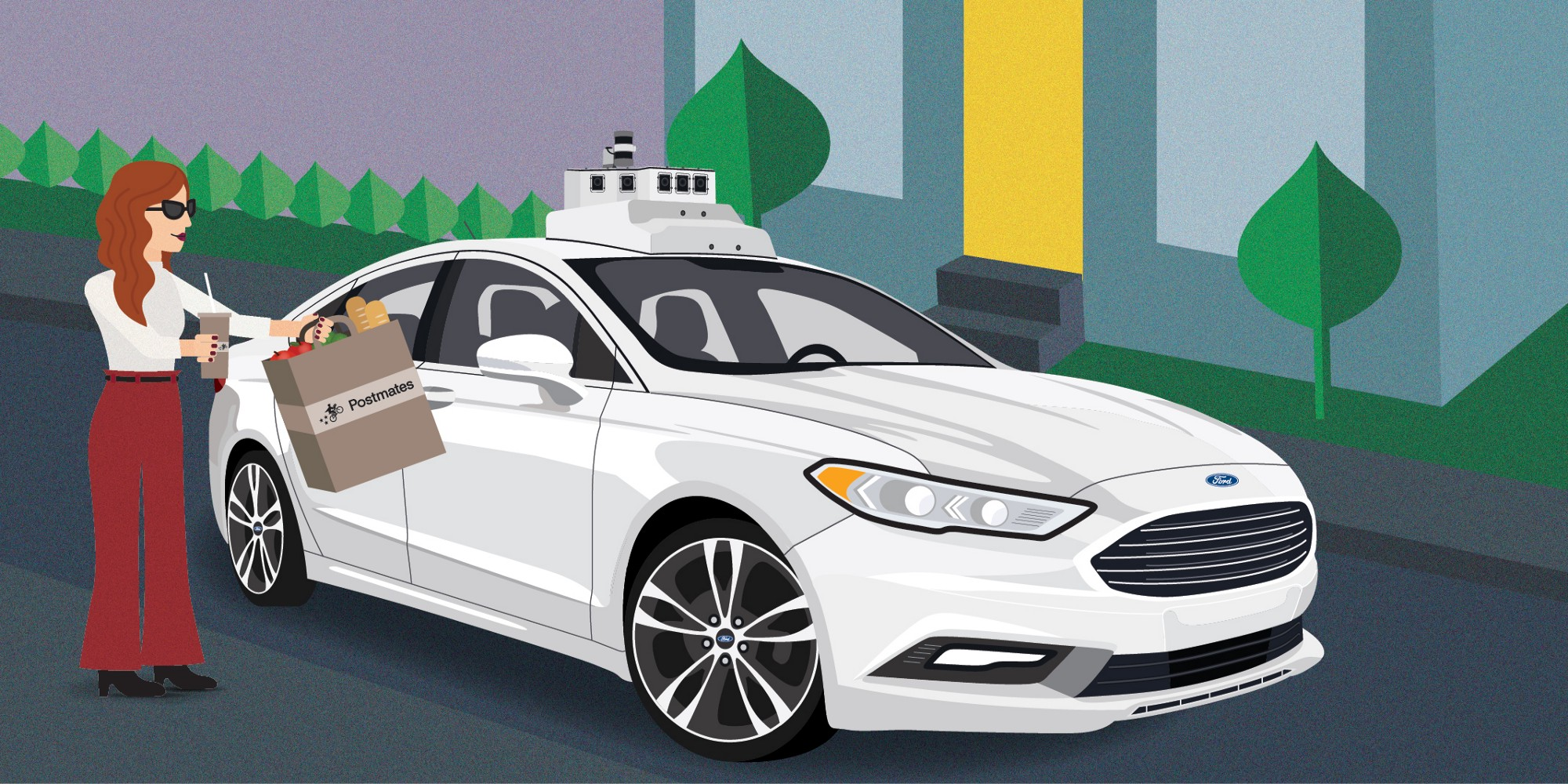Ford and Postmates Will Test Autonomous Delivery Vehicles