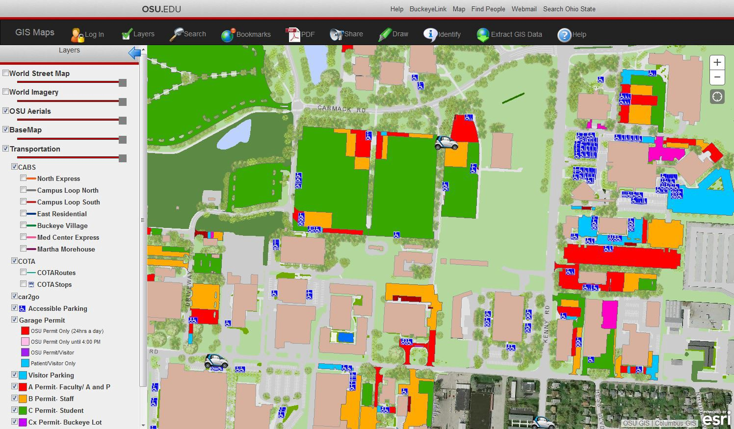 Ohio State Map Campus.Ohio State Goes Live With Real Time Gis Maps Website