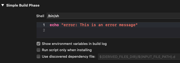 "Prefix a message with ""error"" to notify the user when things go wrong"