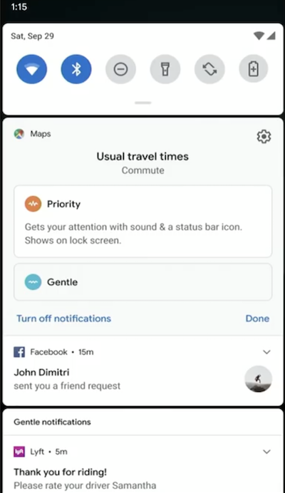 Android Q notifications
