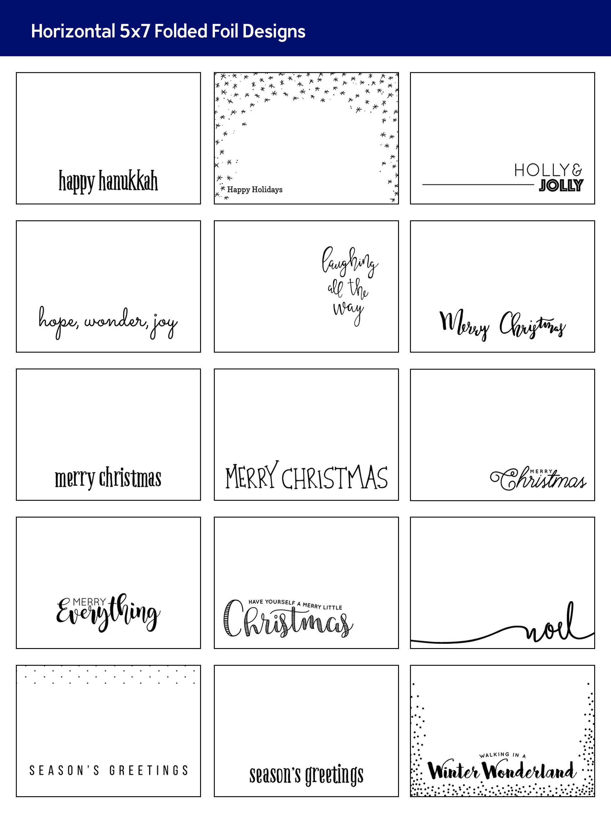 Introducing Foil to Folded and Trifold Cards + New Holiday Designs