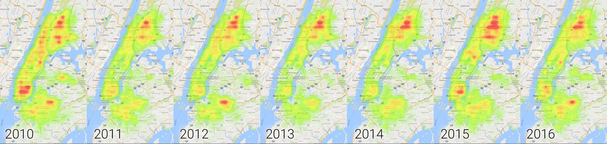 Crowning The Rat Capital Of New York  TIL With BigQuery - Nyc rat map