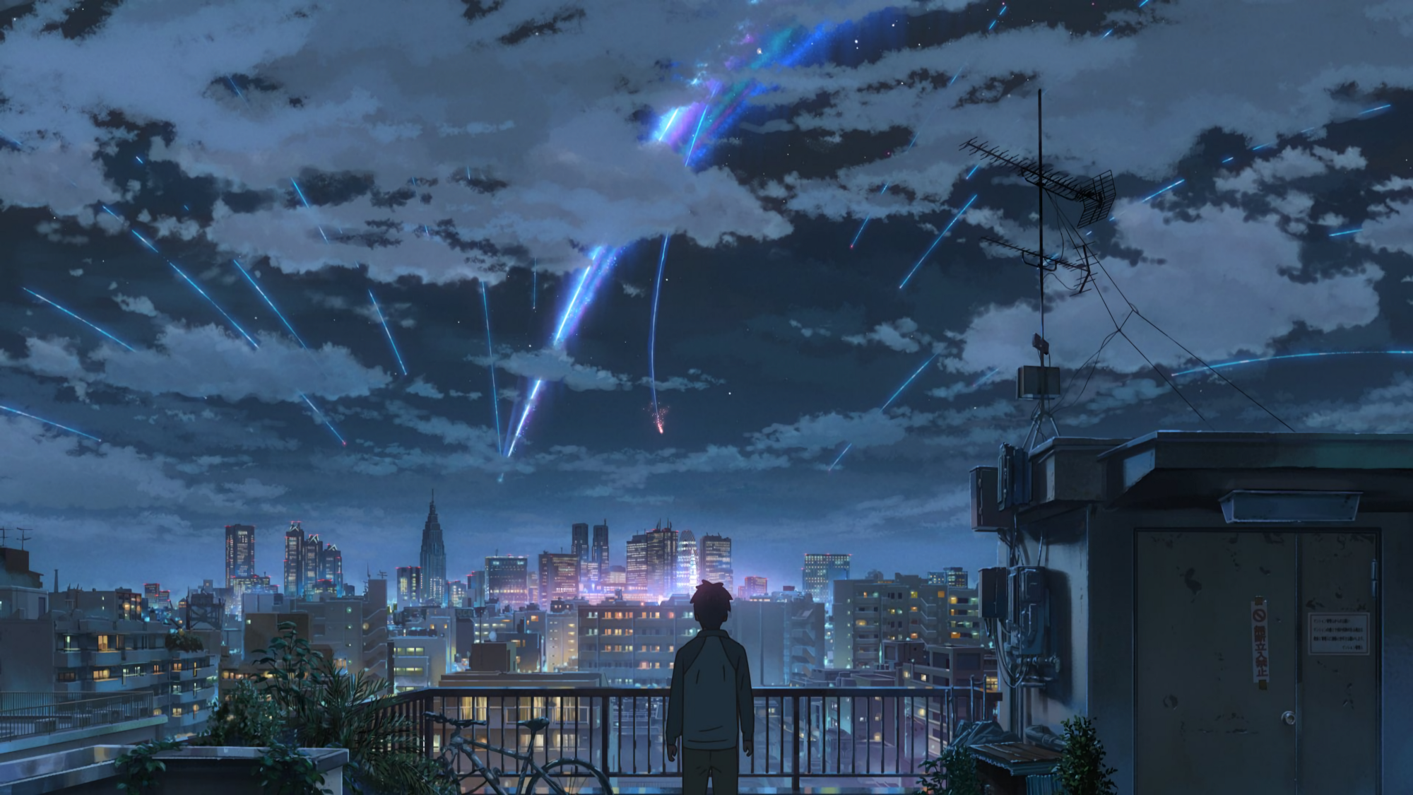 Makoto Shinkai Movies Always Have Outlandishly Beautiful Skies If You Think This Is What A Shooting Star Looks Like In Real Life
