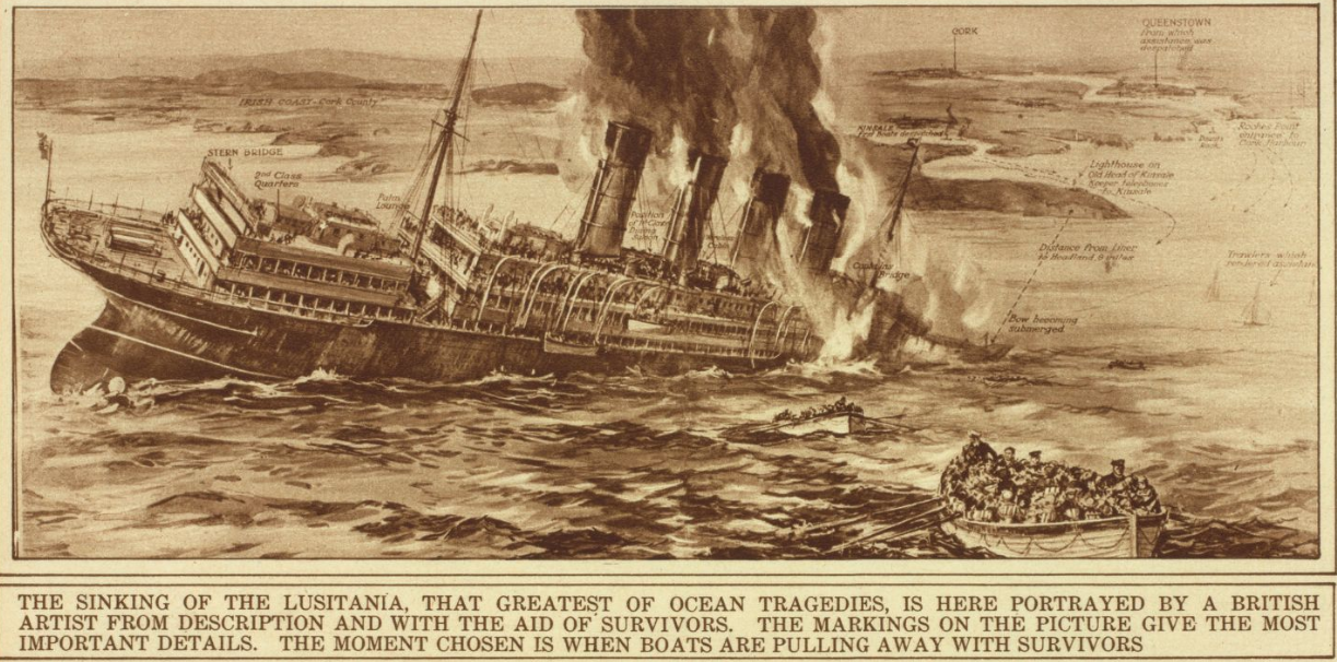 Image result for the sinking of the lusitania