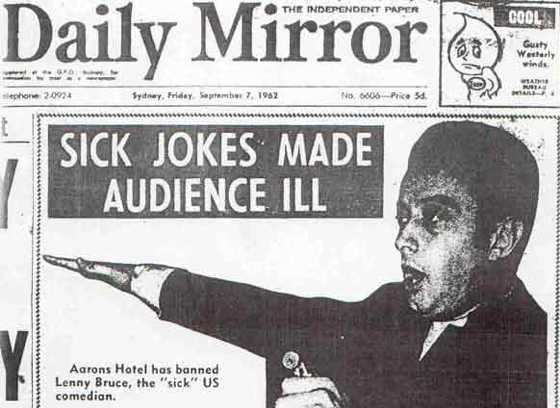 An example of the British media reaction to Bruce.