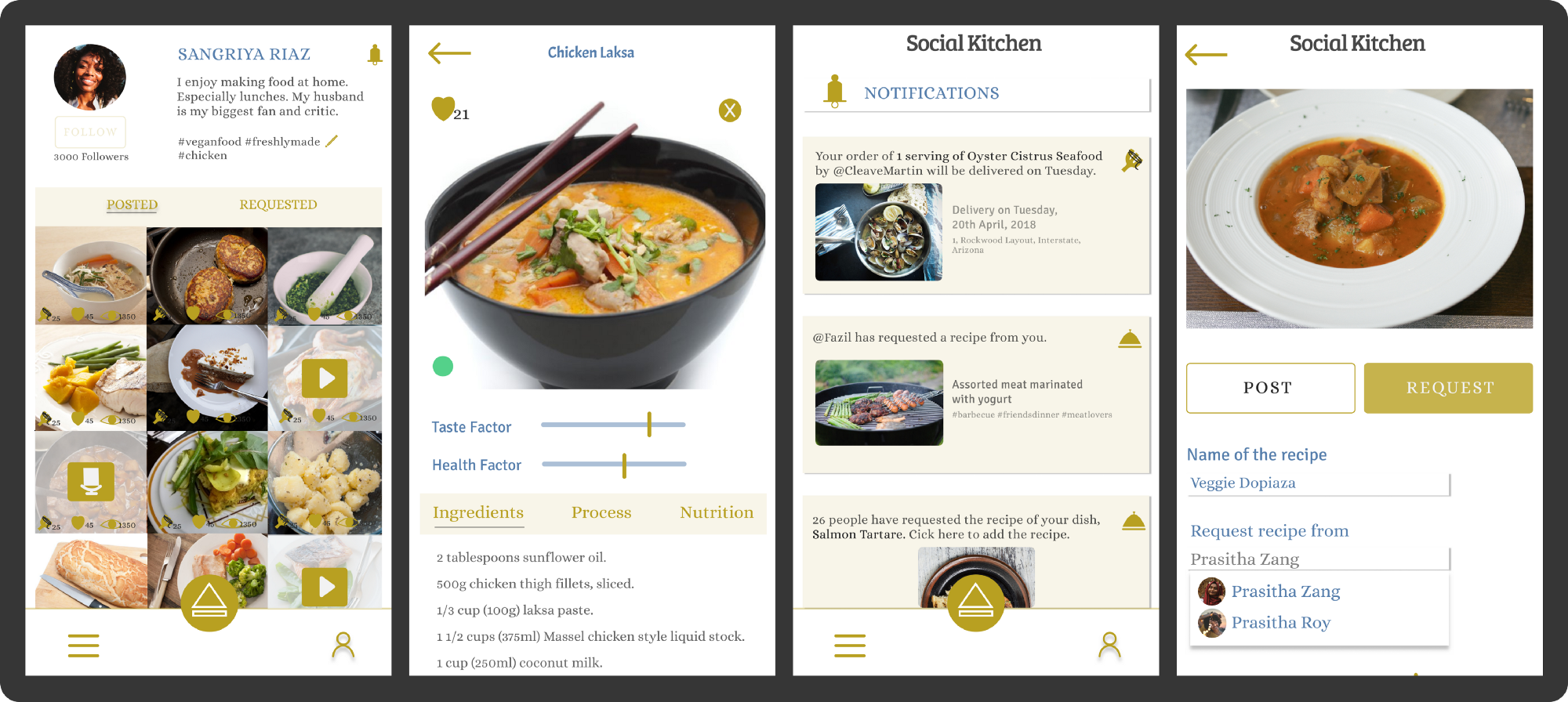 Social Kitchen, an app that increases your Culinary Confidence — UX ...