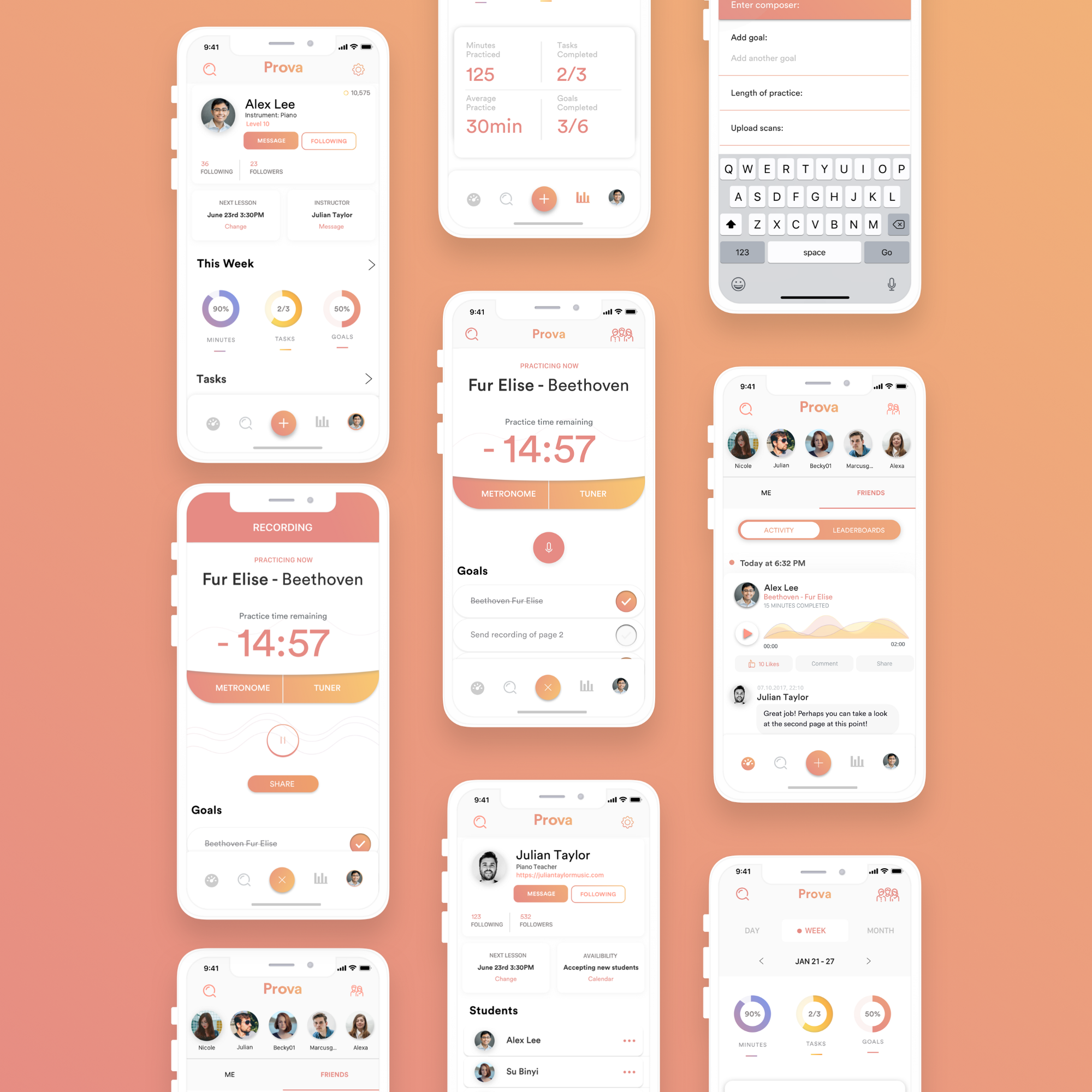 A fun and social way to practice music while keeping track of your progress—a UX case study