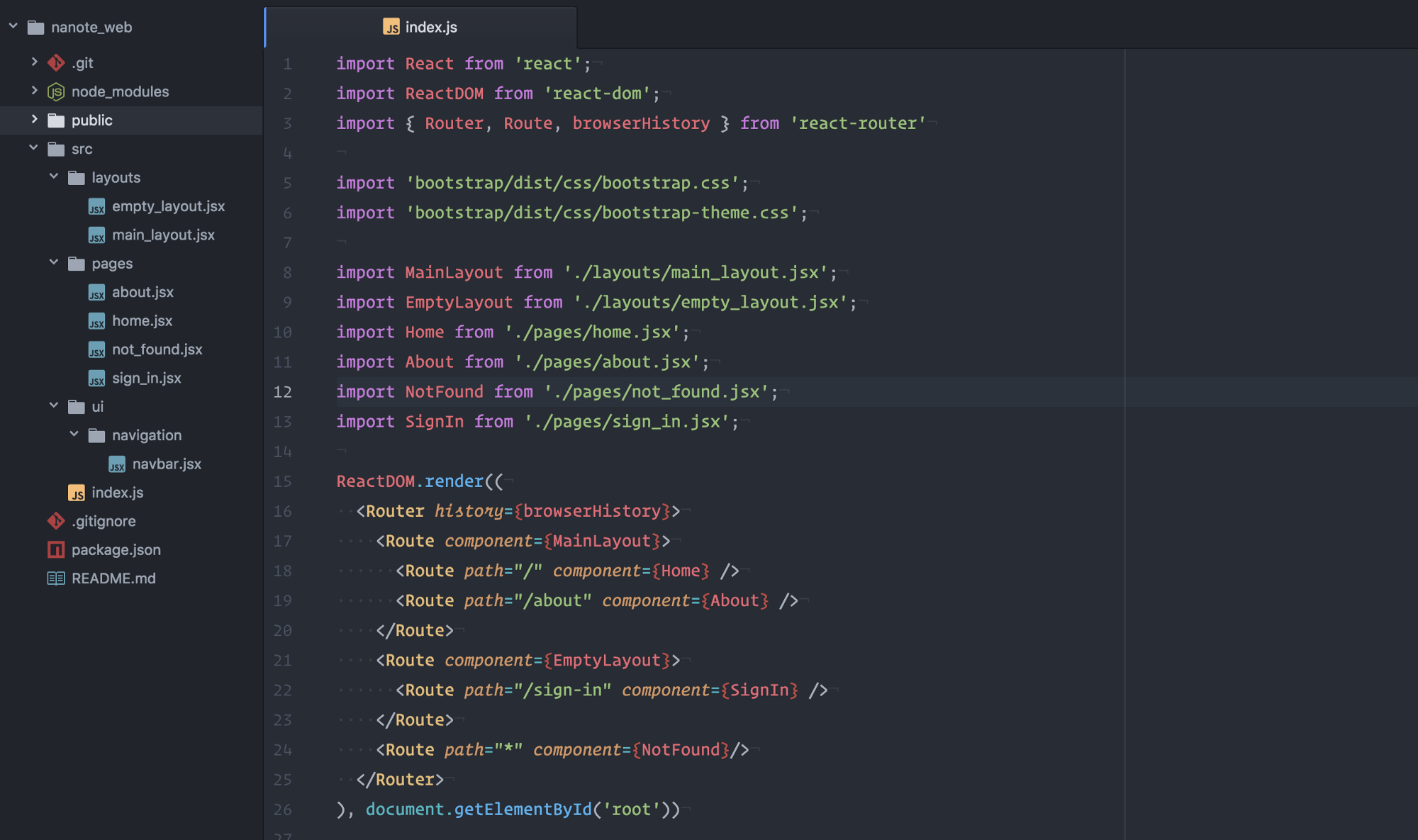 Different layouts with react router sergiotapia this is the tldr if youre familiar with react router malvernweather Gallery