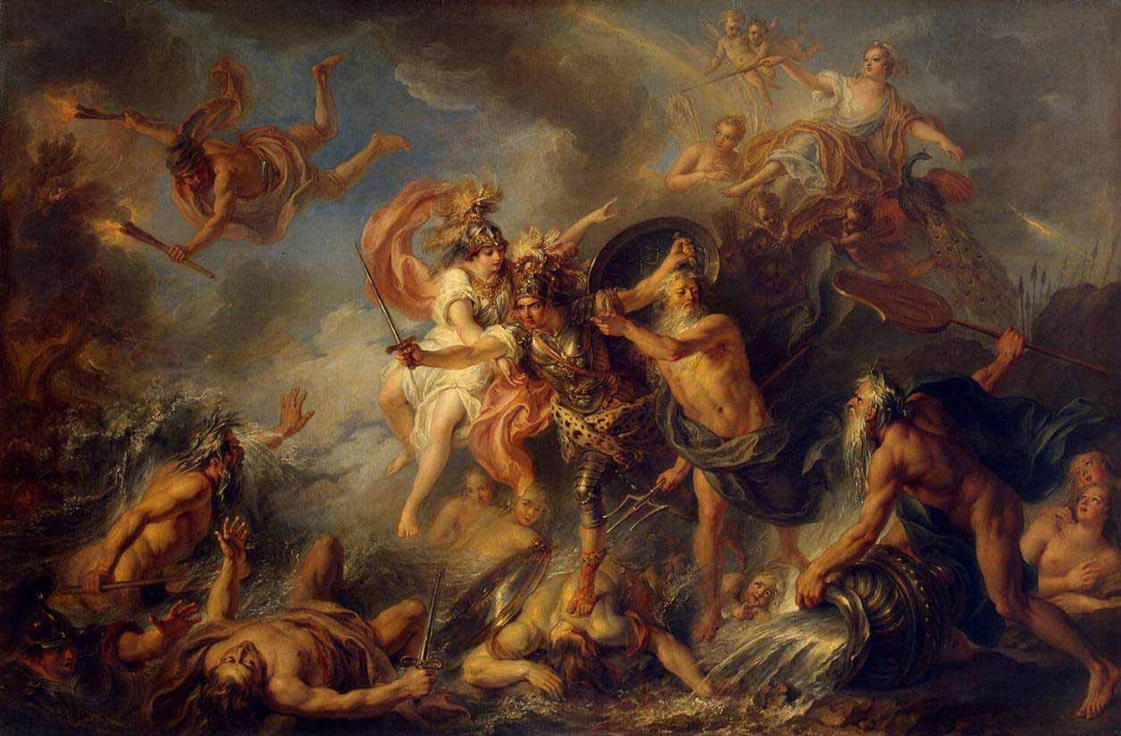"homer s iliad world literature medium ""the fury of achilles "" charles antoine coypel 1737"