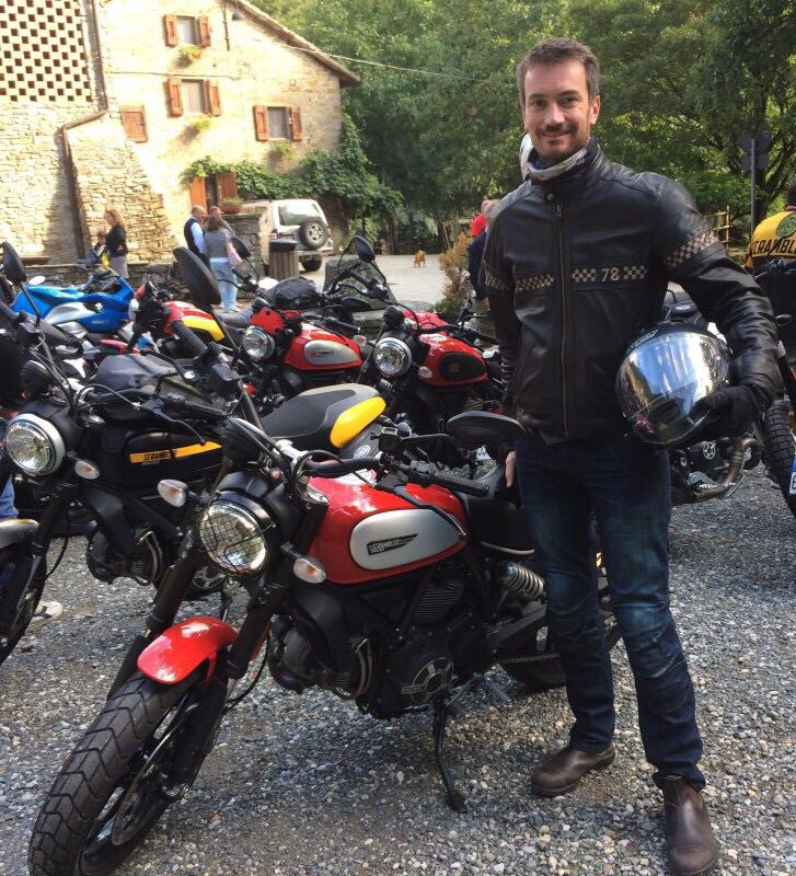 This is me an my bike at a recent Ducati Scrambler event